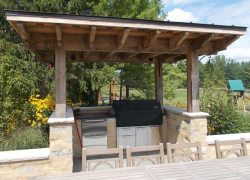 Custom Stone Outdoor Grill