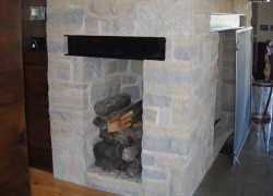 Stone Fireplace Storage