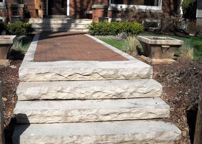 Brick Patio. Custom Stone Path. Custom Brick Sidewalk. Custom Steps