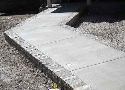 Custom Brick Sidewalk