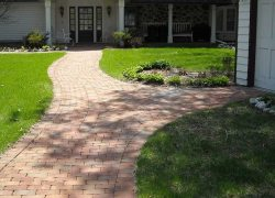 Custom Brick Sidewalk