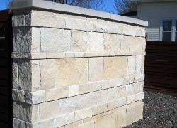 Custom Stone Fence