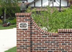 Custom Brick Pillar Entrance