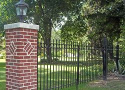Custom Brick Pillar Gated Entrance