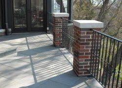 Patio Brick Pillars Fence