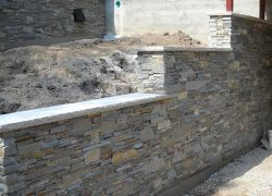 Board Form Retaining Wall