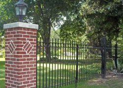 Custom Brick Pillar Gated Entrance