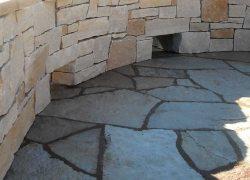 Patio Privacy Stone Wall