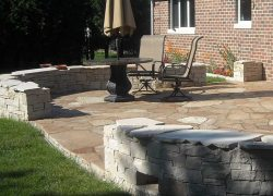 Patio Privacy Stone Wall