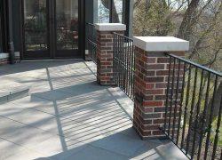 Patio Brick Pillars Fence