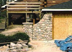 Stone Privacy Wall