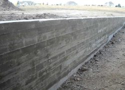 Board Form Retaining Wall