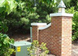 Custom Brick Pillar Entrance